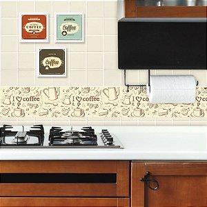 Faixa Decorativa para Cozinha Love Coffee