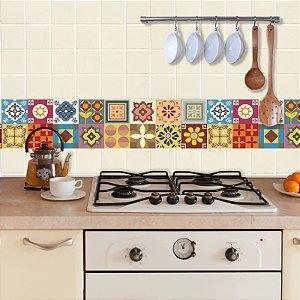 Faixa Decorativa para Cozinha Geométrico Colorido