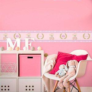 Faixa Decorativa Infantil Ursinha Princesa