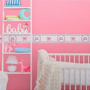 Faixa Decorativa Infantil Elefante Rosa