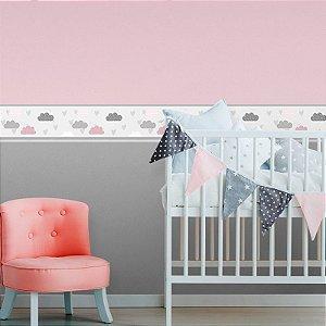 Faixa Decorativa Infantil Nuvens com Passarinhos