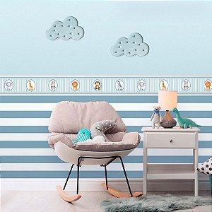 Faixa Decorativa Infantil Safari Aquarela