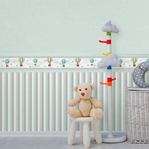 Faixa Decorativa Infantil Balões Cute Aquarela