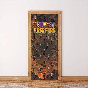 Adesivo Para Porta  Free Fire