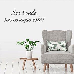 Adesivo Decorativo Frase '' Lar ''
