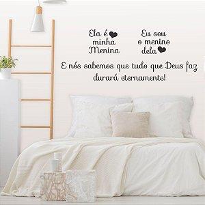 Adesivo Decorativo Frase ''Eternamente''