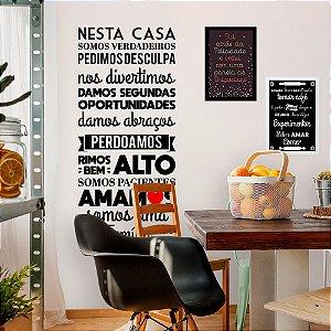 """Adesivo Decorativo Frase """"Somos uma Família"""""""