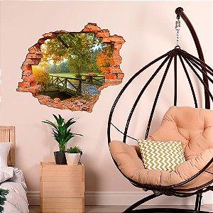 Adesivo Decorativo Buraco Falso 3D Floresta