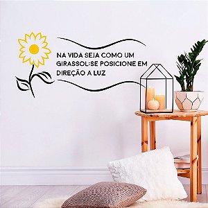 "Adesivo Decorativo Frase ""Girassol"""