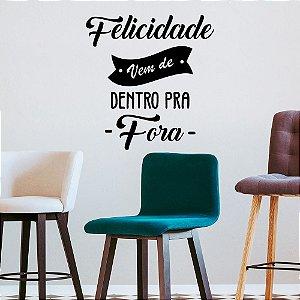 """Adesivo Decorativo Frase """" Felicidade"""""""
