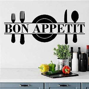 "Adesivo Decorativo Frase "" Bon Appetit """
