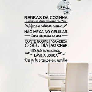 Adesivo Decorativo Frase '' Regras da Cozinha ''