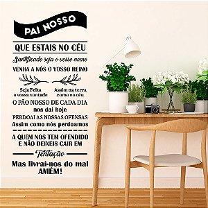 "Adesivo Decorativo Frase ""Pai Nosso"""