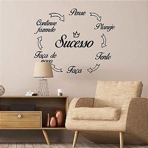"""Adesivo Decorativo Frase """"Sucesso"""""""