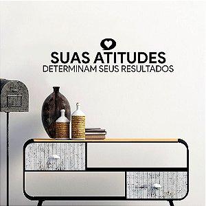 Adesivo Decorativo Frase Atitude