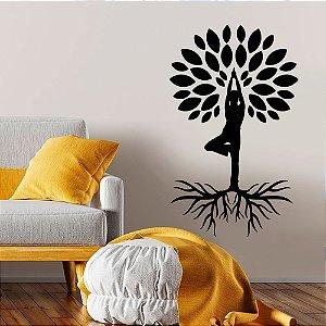 Adesivo Decorativo Árvore Yoga