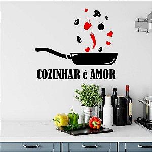 Adesivo Decorativo Cozinhar é Amor