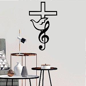 Adesivo Decorativo Música, Fé e Paz