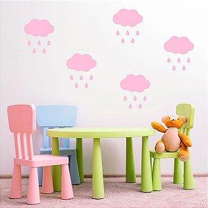 Adesivo de Parede Cloud Rain Pink