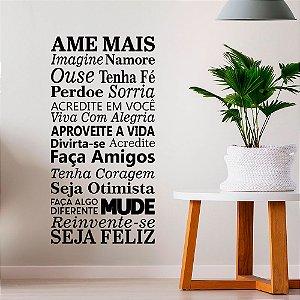 "Adesivo Decorativo Frase ""Ame Mais"""