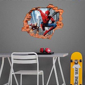 Adesivo Decorativo Buraco Falso 3D Heróis