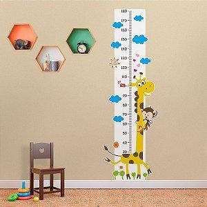 Régua de Crescimento Girafa e Macaco Amigos