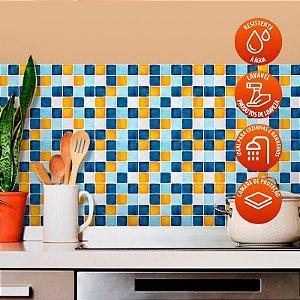 Revestimento de Azulejo Pastilha estilo Aquarela