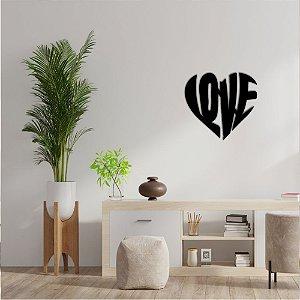 Palavra Decorativa de Parede Coração Love