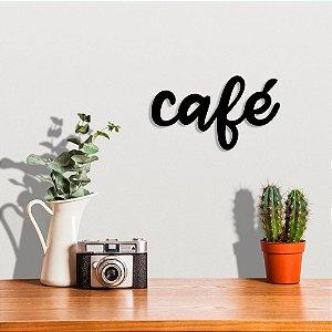 Palavra Decorativa de Parede Café