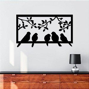 Quadro Decorativo 3D Pássaros