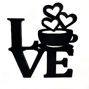 Palavra Decorativa Love Coffe