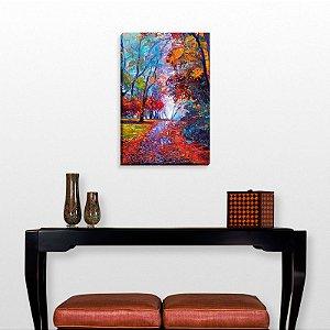 Quadro Decorativo Abstrato Enchanted Florest