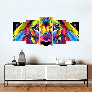 Quadro Decorativo Mosaico Leão Judá