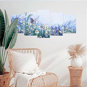 Quadro Decorativo Mosaico Camomila