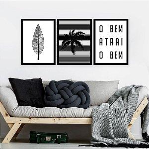 Kit Quadro Decorativo O Bem Atrai O Bem