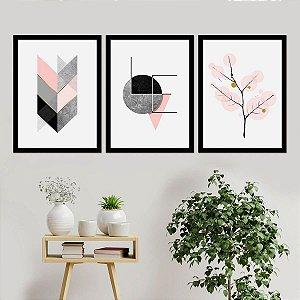Kit Quadro Decorativo Love Branches