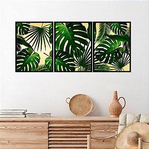 Kit Quadro Decorativo Costela de Adão Tropical