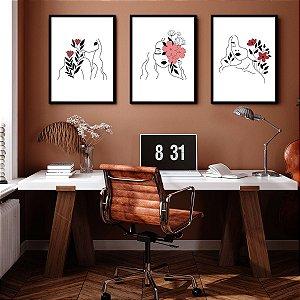 Kit Quadro Decorativo Florescer