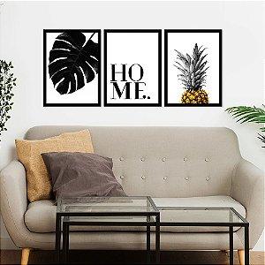 Kit Quadro Decorativo Home