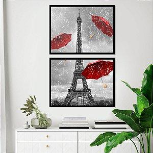 Kit Quadro Decorativo Rain in Paris