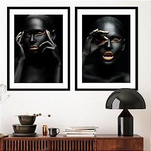 Kit Quadro Mulher Negra Faces Zenabu