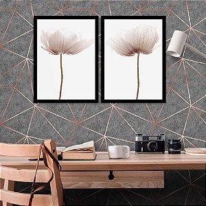 Kit Quadro Decorativo Flores Tulipas