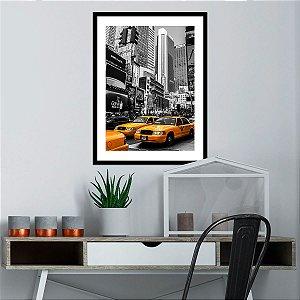Quadro Decorativo Taxi Amarelo New York