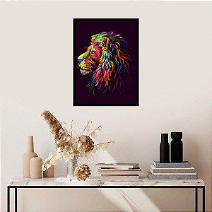 Quadro Decorativo Purple Lion