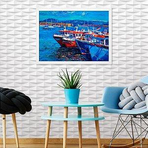 Quadro Decorativo Barcos