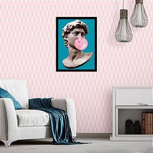 Quadro Decorativo Davi Bubble Gum