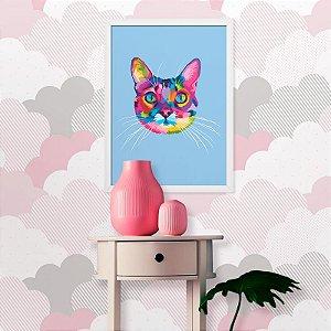 Quadro Gato Colorido Artpop