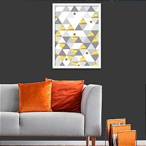 Quadro Decorativo Triângulos Gold