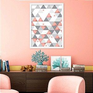 Quadro Decorativo Triângulos Rose Gold