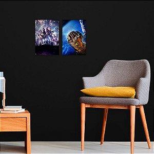 Kit Placas Decorativas Vingadores x Thanos